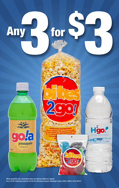 3 for 3 Promo